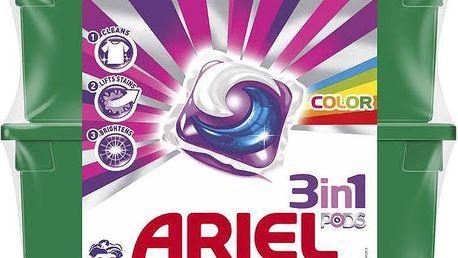 Ariel 3v1 Color gelové kapsle na barevné prádlo 2 x 32 kusů