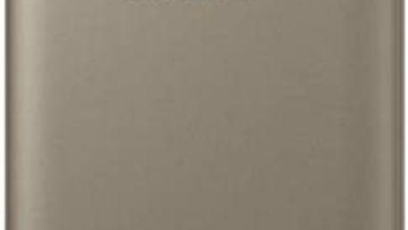 Pouzdro na mobil flipové Samsung pro Galaxy S7 (EF-WG930P) (EF-WG930PFEGWW) zlaté