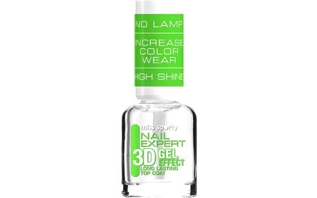 Miss Sporty Nail Expert 3D Gel Effect Top Coat krycí lak na nehty 8 ml