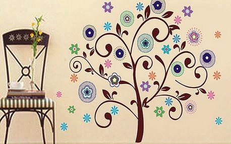 Stylový strom s květy 83 x 78 cm