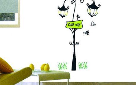 Pouliční lampa 45 x 85 cm