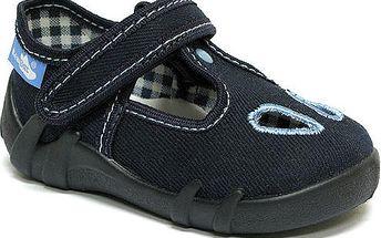 Ren But Dětské bačkůrky na suchý zip modré barvy, EUR 25