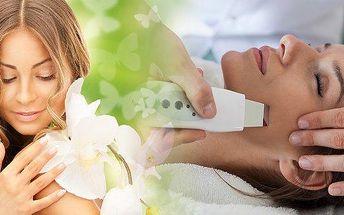Luxusní hloubkové vyčistění pleti ultrazvukovou špachtlí za pomocí ionizéru a vysoce efektivní čistící masky, obsahující aktivní bambusové uhlí. Přírodní maska Pilaten odstraňuje černé tečky a akné!