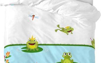 Mr. FOX Dětské povlčení Happy Frogs, 115x145 cm