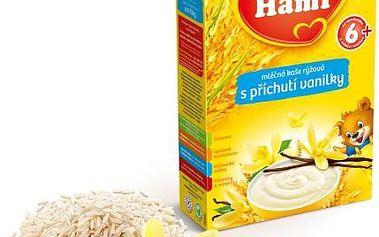 Hami mléčná kaše rýžová s příchutí vanilky 225g