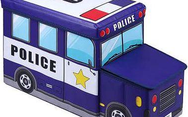 Jocca Chlapecký úložný box Policejní auto - modré