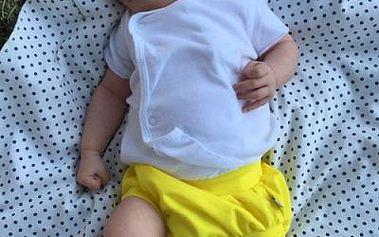 Lamama Kalhotky na plenu 0-6 měsíců (62/68 cm), Žlutá