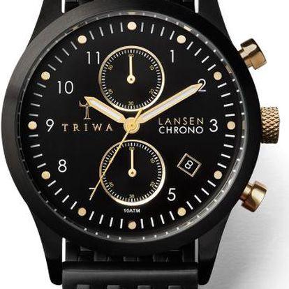 Triwa Midnight Lansen Chrono Black Brace TW-LCST108-BR020101 + pojištění hodinek, doprava ZDARMA, záruka 3 roky