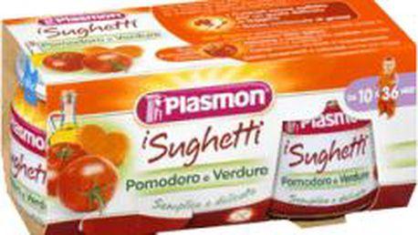 2x PLASMON Rajčatová omáčka se zeleninou PLASMON 80g