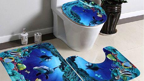 Sada koberečků do koupelny - Oceán - dodání do 2 dnů