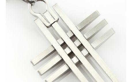 Fashion Icon Přívěsek s řetízkem chirurgická ocel kříž