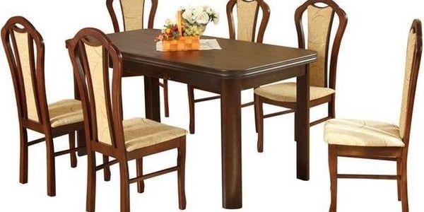Stůl Sonata + židle Venus (6ks.) - Sestava AD78