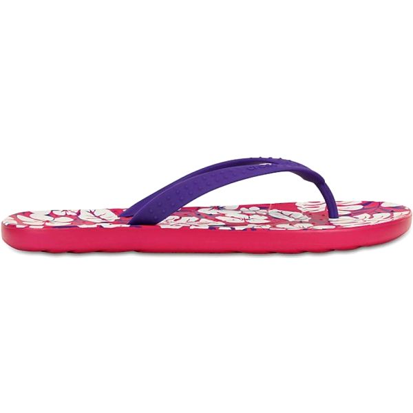 Crocs Chawaii Tropical Print Flip Ultraviolet/Candy Pink
