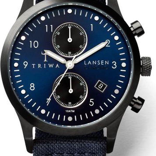 Triwa Dusk Lansen Chrono Navy Canvas Classic TW-LCST107-CL063112 + pojištění hodinek, doprava ZDARMA, záruka 3 roky