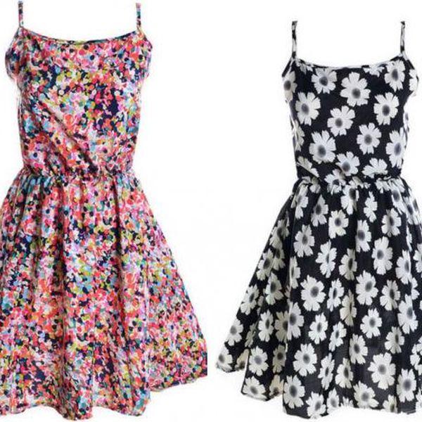 Letní šaty na ramínka Ariele - pouze do vyprodání!