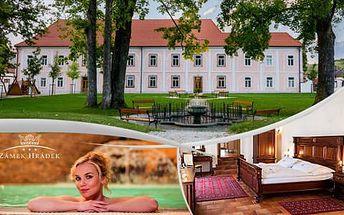 Zámecká romantika v Pošumaví se vstupem do wellness i na Adventure golfové hřiště, platnost do 30. 6. 2016