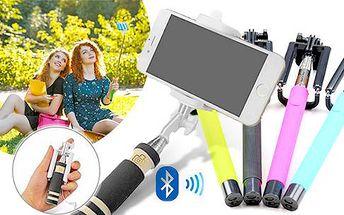 Selfie tyč pro luxusní fotky! Výběr z více délek, barev, s různým typem ovládání včetně poštovného.
