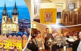 Pivovar Kolčavka Praha až na 3 dny pro dva. Polopenze, ochutnávka 5 vzorků piva a prohlídka minipivovaru.