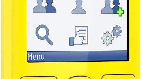 Mobilní telefon Nokia 206 Dual sim, žlutý + 200 Kč za registraci