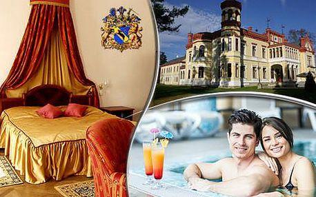 Romantický pobyt pro dva v zámeckém Resortu Mostov s gurmánskou polopenzí, bazénem a procedurami
