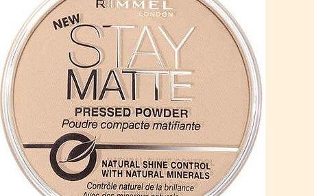 Rimmel London Stay Matte Powder pudr 001 Transparent 14 g