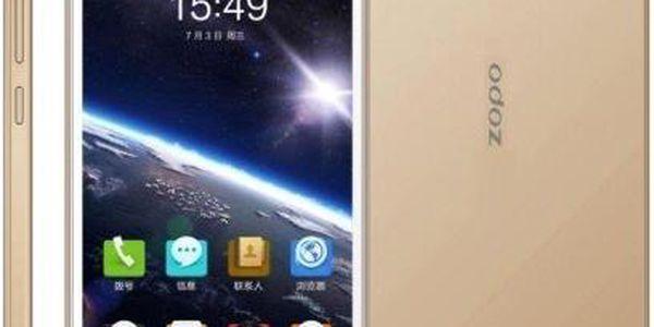 Mobilní telefon Zopo ZP1000S, zlatý + 200 Kč za registraci