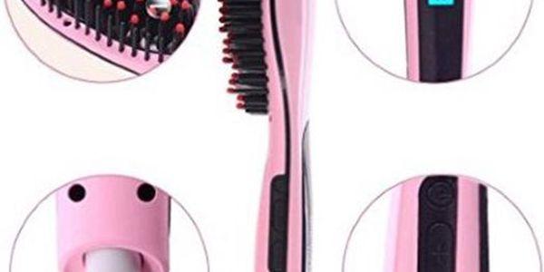 Ionizační kartáč s žehličkou vlasů