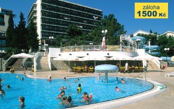 Chorvatsko, oblast Krk, doprava autobusem, snídaně, ubytování v 3* hotelu na 10 dní