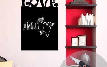 Tabulová samolepka Love + bílý fix
