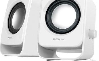 Speedlink SL 8002 WE SNAPPY Stereo Speakers, white