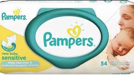 Ubrousky čistící Pampers Sensitive New Baby 54ks