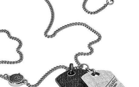 Diesel Pánský ocelový náhrdelník s přívěsky DX0935001