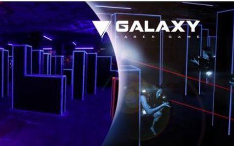 Adrenalinová hra laser game až pro 14 hráčů. Vstup na 1 hru do GALAXY LASER GAME arény - Praha 8 Bohnice.