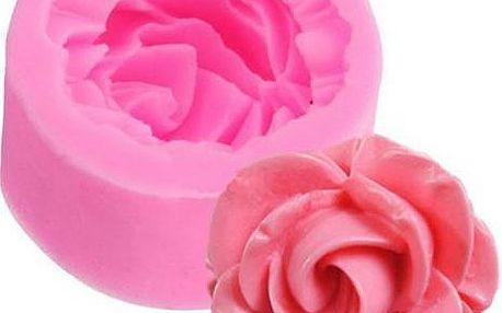 Silikonová forma na mýdlo, čokoládu či marcipán Růže