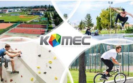 Přenosná permanentka na služby sport. areálu Brno Komárov s neomezenou platností! Lezecká stěna, tenis či ping pong!