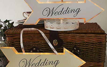 Svatební dekorace s LED světly Wedding Arrow