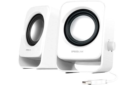 Speedlink SL 8002 WE SNAPPY Stereo Speakers, white