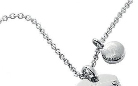 Diesel Lesklý pánský náhrdelník s přívěskem DX0705040