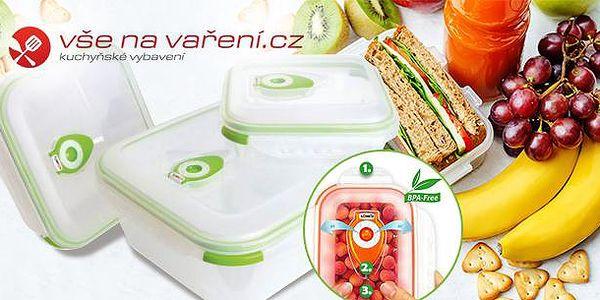 Vakuová dóza - 3dílná sada po 0,7 l, 1,5l a 3 l, pro uchování čerstvosti potravin až o 3x! Možný osobní odběr v Praze.