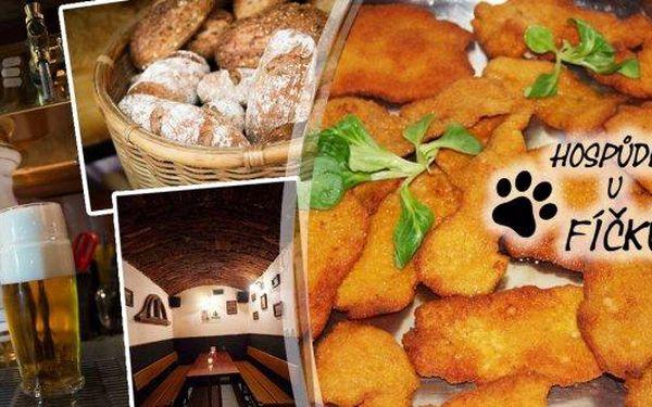 Kuřecí řízečky jako od babičky! Poctivá kilová porce s ošatkou chleba, zeleninovou oblohou a tatarskou omáčkou v Hospůdce U Fíčků. Vezměte si na pomoc posilu a pochutnejte si v rodinném podniku s příjemnou atmosférou a vynikající českou kuchyní v srdci Ži
