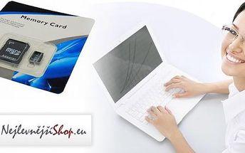 Paměťové karty včetně adaptéru - ideální pro moderní digitální zařízení. Pořiďte si Micro SDHC kartu o kapacitě 32 nebo 64 GB, která vám umožní ukládat soubory, fotky i hudbu do mobilu, smartphonu, foťáku, zrcadlovky nebo kamery.
