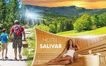 Šumava! Pobyt v 3* hotelu Salivar pro 2 osoby na 3, 4 nebo 6 dní vč. polopenze, prívátní sauny a teplého nápoje. 9/2016.