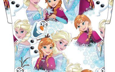E plus M Dívčí tričko Frozen - barevné, 122 cm