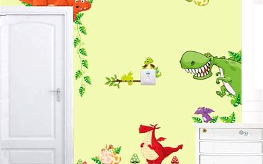 Samolepka na zeď - parta dinosaurů - dodání do 2 dnů