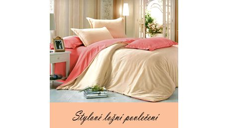 Moderní povlečení bavlna oranžová