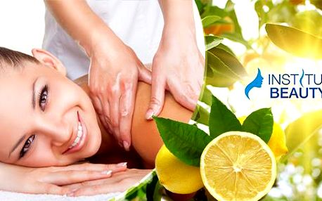 Klasická, relaxační nebo citrusová masáž v délce 40 nebo 60 minut v Institut Beauty v Brně.