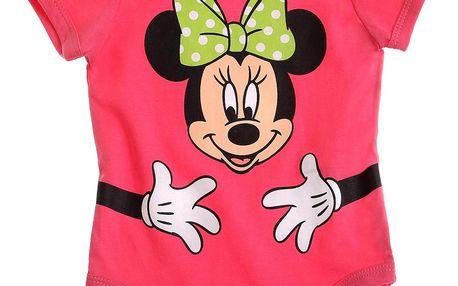 Disney Dívčí body s Minnie - růžové, 92 cm