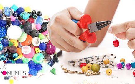 Mix skleněných korálků 250g, 0,5 kg nebo 1 kg. Různé tvary, barvy a velikosti. Vyrobte si šperky dle své fantazie.