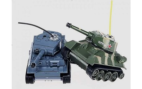 Bojující RC mini tanky - tanková bitva na vašem stole
