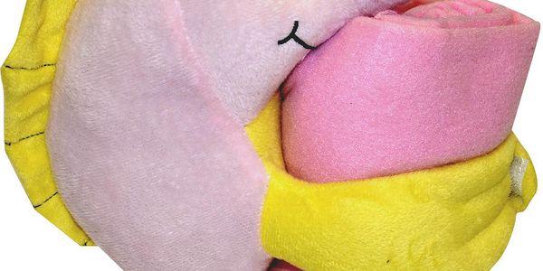 SUPER CENA !! Deka pro děti s plyšovou hračkou MARINI Essex 75x100 cm